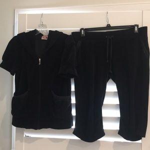 Juicy Couture black track suit size L